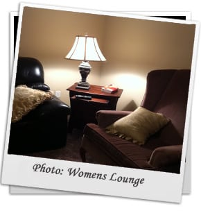 Kelonwa Rehab interior at womens lounge