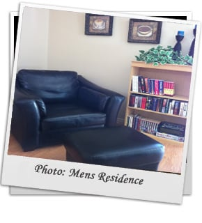 Living Room for Mens Rehab Residence located in Kelowna BC